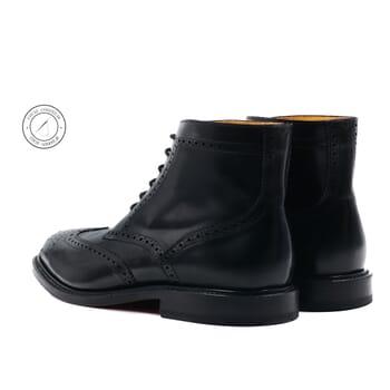 vue arriere boots cousu goodyear cuir noir jules & jenn