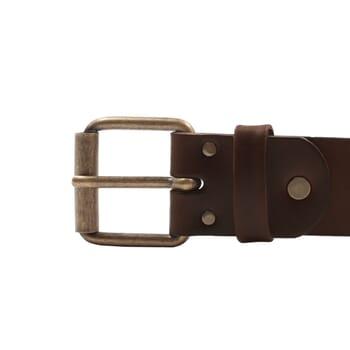 vue boucle ceinture week-end cuir marron jules & jenn