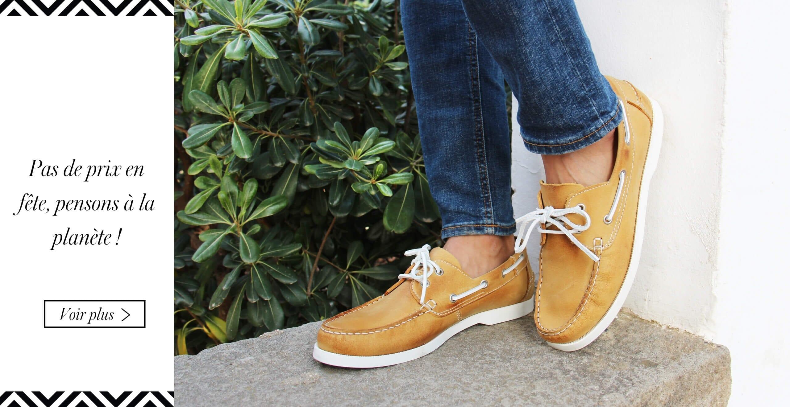 chaussures bateau cuir jaune jules & jenn