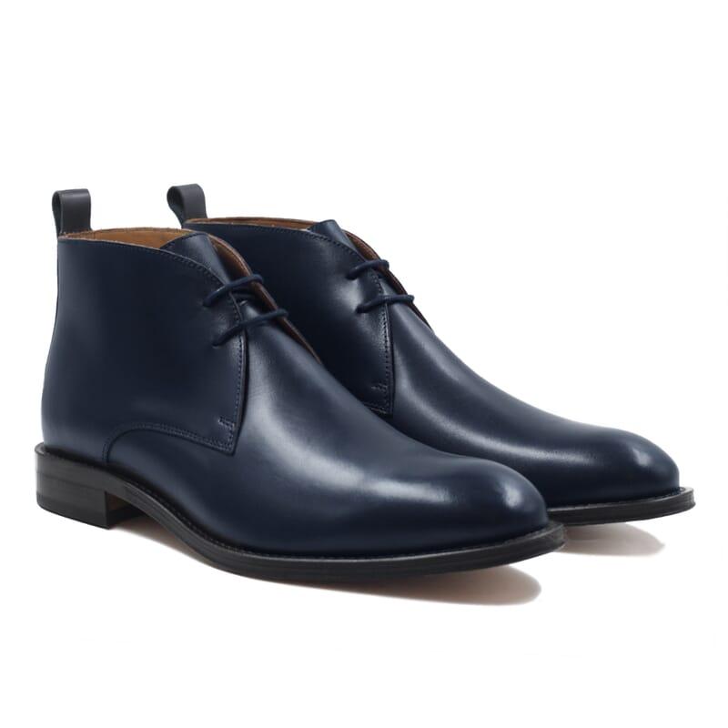 desert boots cuir bleu jules & jenn