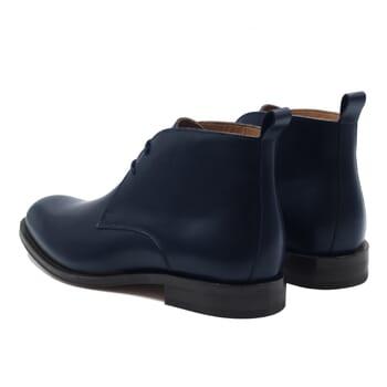 vue arriere desert boots cuir bleu jules & jenn