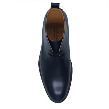 vue dessus desert boots cuir bleu jules & jenn