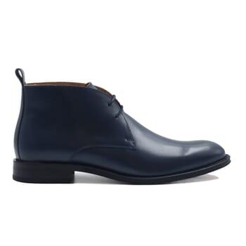 vue exterieur desert boots cuir bleu jules & jenn