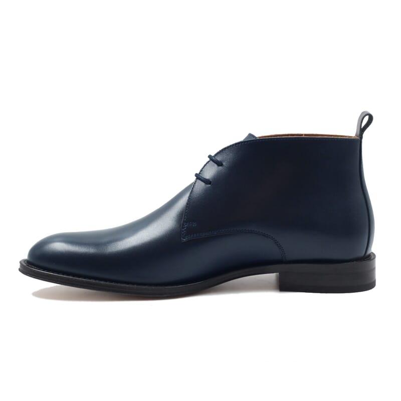 vue interieur desert boots cuir bleu jules & jenn