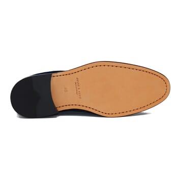 vue dessous desert boots cuir bleu jules & jenn