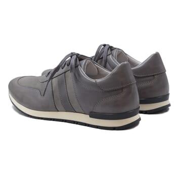 vue arriere sneakers cuir daim gris jules & jenn
