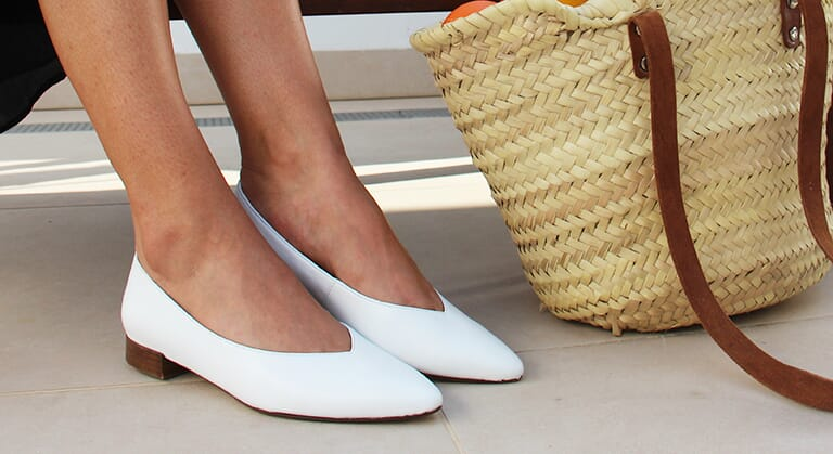 ballerines cuir blanc jules & jenn