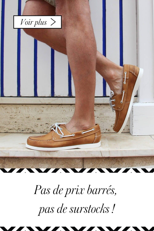 chaussures bateau pour homme en cuir cognac jules & jenn