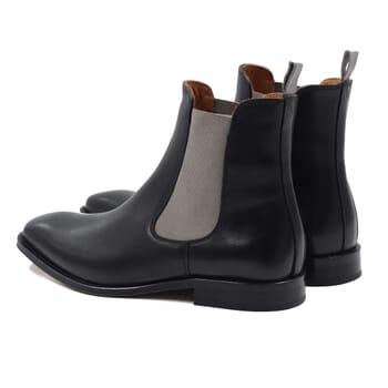 vue arriere chelsea boots cuir noir gris jules & jenn